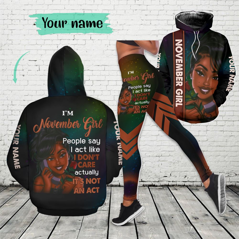 November Birthday Girl Combo November Outfit Personalized Hoodie Legging Set V03