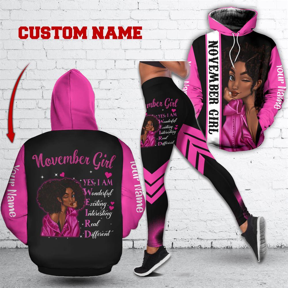 November Birthday Girl Combo November Outfit Personalized Hoodie Legging Set V036