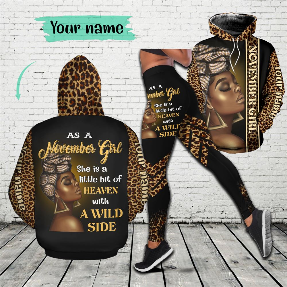November Birthday Girl Combo November Outfit Personalized Hoodie Legging Set V08