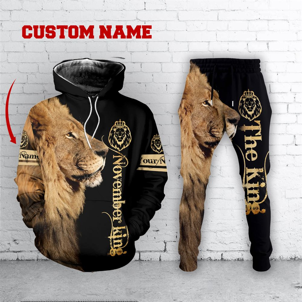 November Birthday Guy Combo November 3d Clothes Personalized Hoodie Joggers Set V033