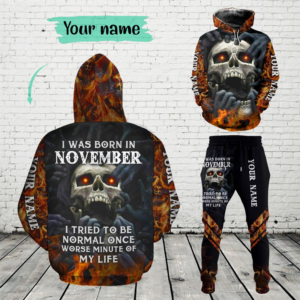 November Birthday Guy Combo November 3d Clothes Personalized Hoodie Joggers Set V08