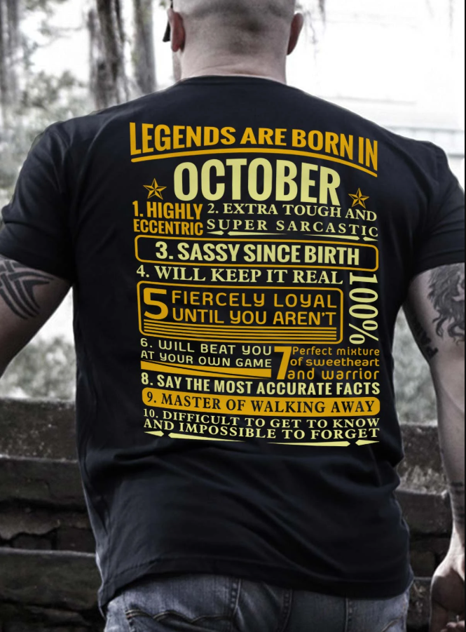 Leagends Are Born In October