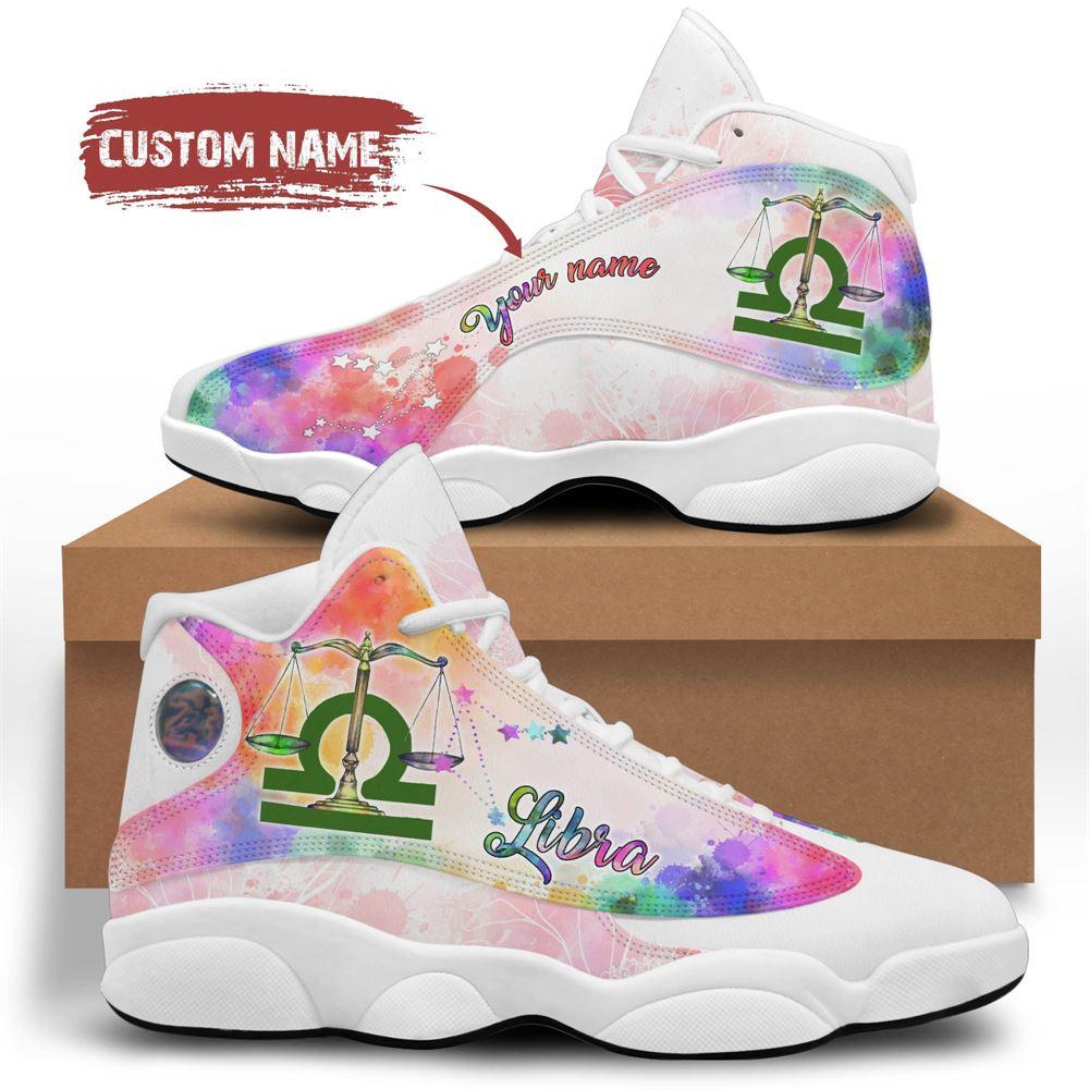 October Birthday Air Jordan 13 October Shoes Personalized Sneakers Sport V02