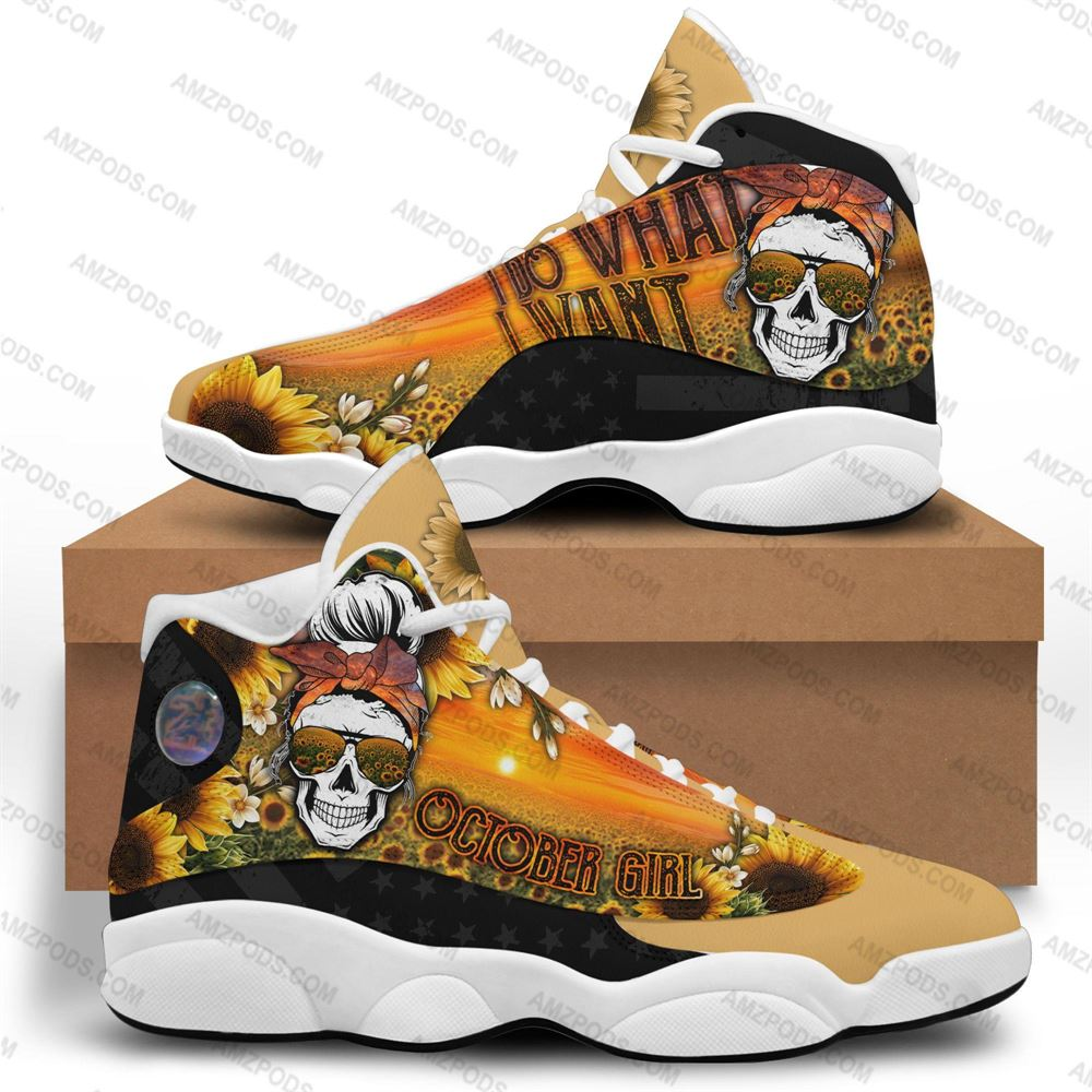 October Birthday Air Jordan 13 October Shoes Personalized Sneakers Sport V028