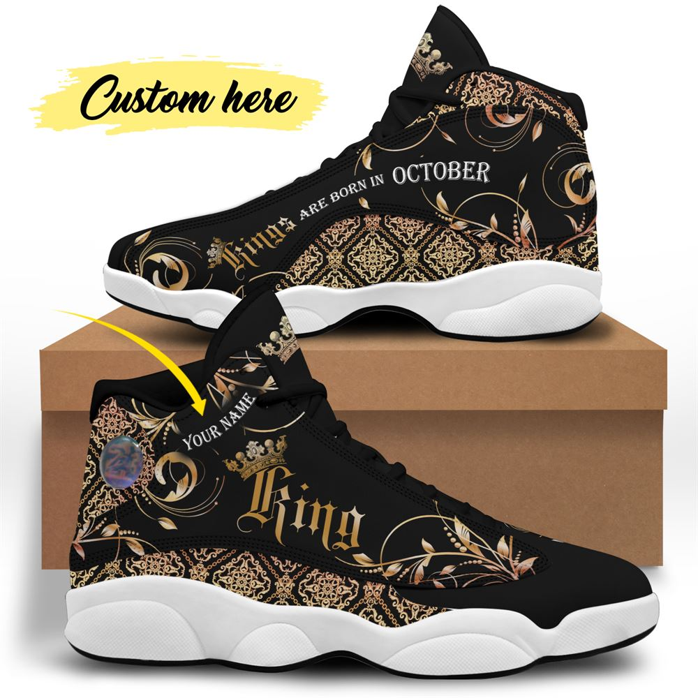 October Birthday Air Jordan 13 October Shoes Personalized Sneakers Sport V035