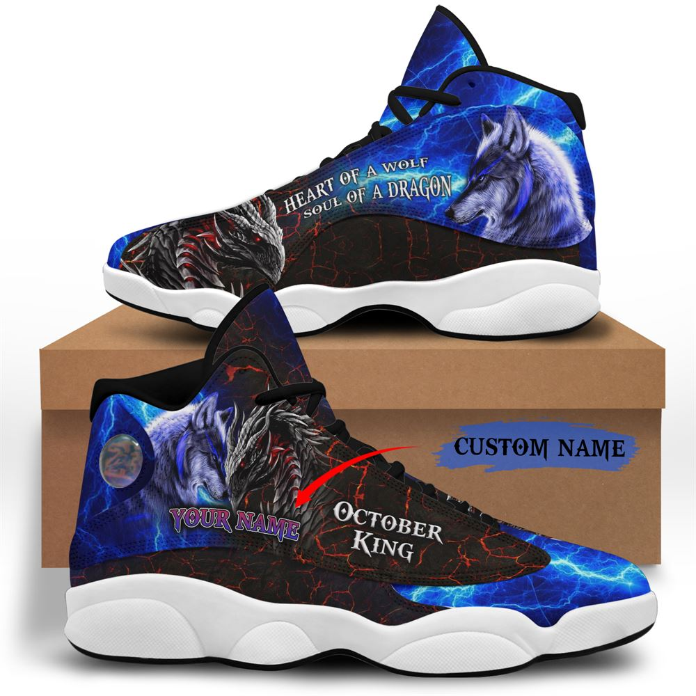 October Birthday Air Jordan 13 October Shoes Personalized Sneakers Sport V041