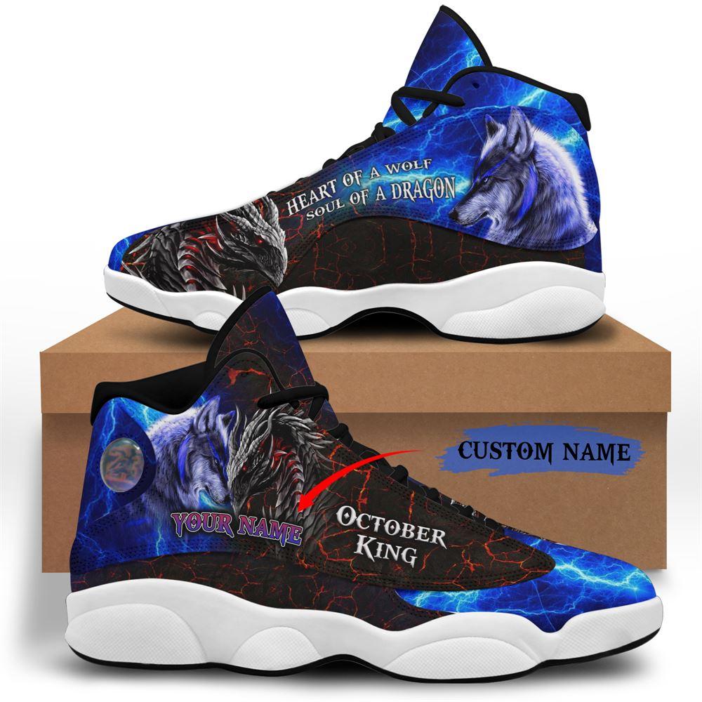 October Birthday Air Jordan 13 October Shoes Personalized Sneakers Sport V041