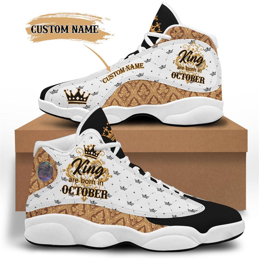 October Birthday Air Jordan 13 October Shoes Personalized Sneakers Sport V042