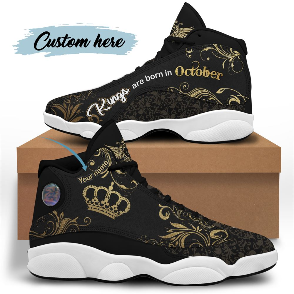 October Birthday Air Jordan 13 October Shoes Personalized Sneakers Sport V046
