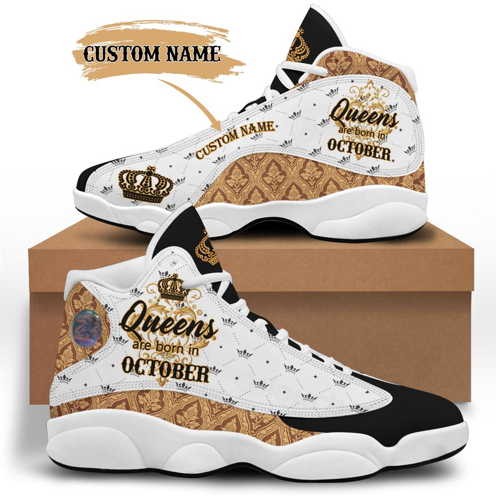 October Birthday Air Jordan 13 October Shoes Personalized Sneakers Sport V050