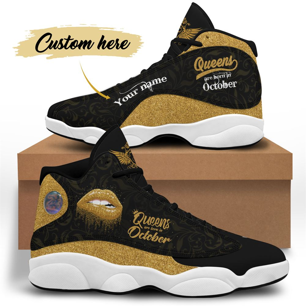 October Birthday Air Jordan 13 October Shoes Personalized Sneakers Sport V051