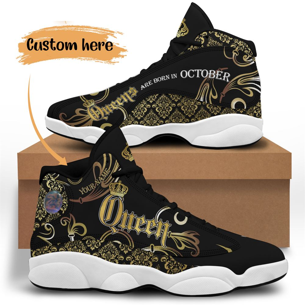 October Birthday Air Jordan 13 October Shoes Personalized Sneakers Sport V053
