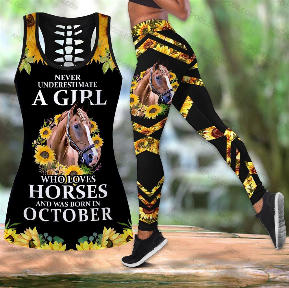 October Birthday Girl Combo October Outfit Hollow Tanktop Legging Personalized Set V060