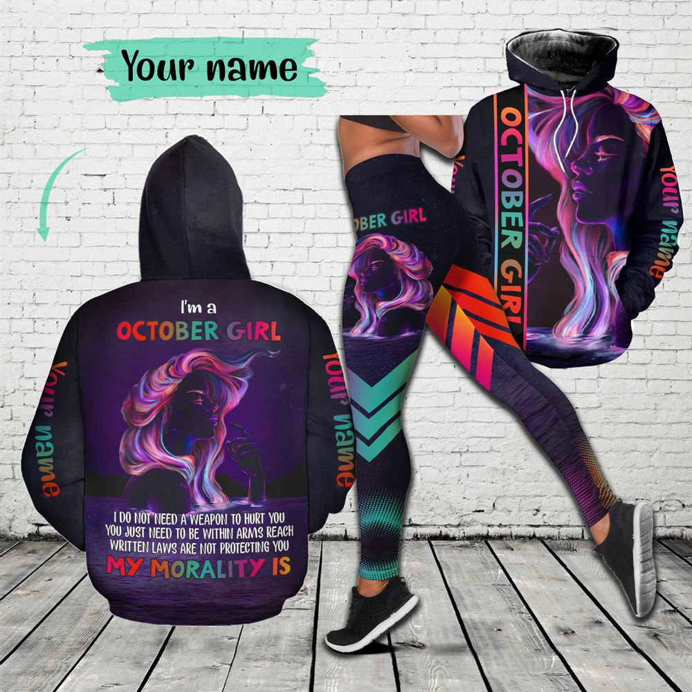 October Birthday Girl Combo October Outfit Personalized Hoodie Legging Set V01