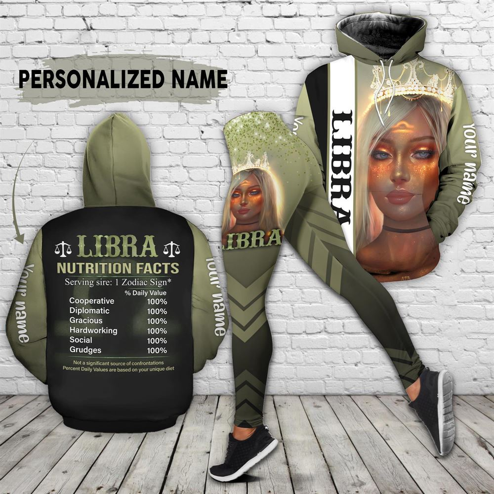 October Birthday Girl Combo October Outfit Personalized Hoodie Legging Set V012