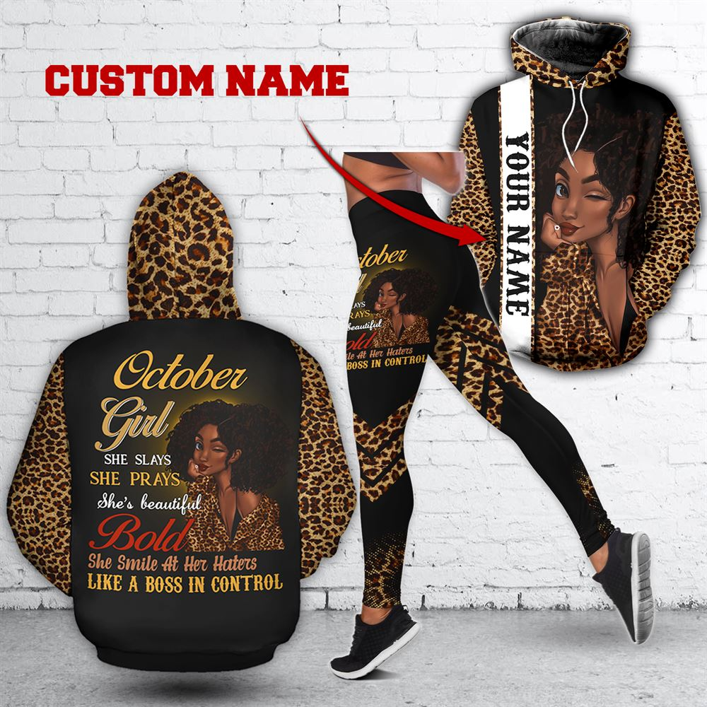 October Birthday Girl Combo October Outfit Personalized Hoodie Legging Set V017
