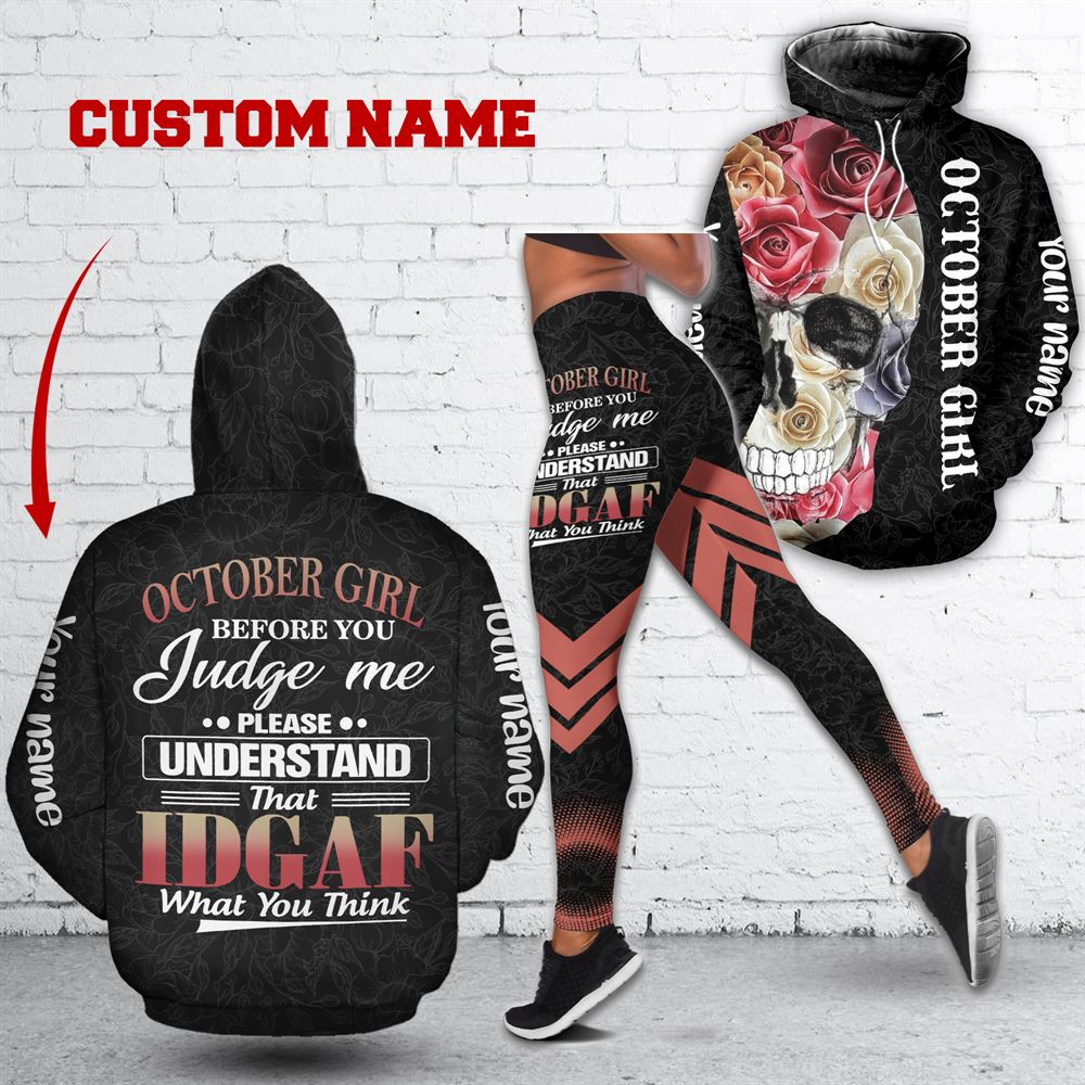 October Birthday Girl Combo October Outfit Personalized Hoodie Legging Set V018