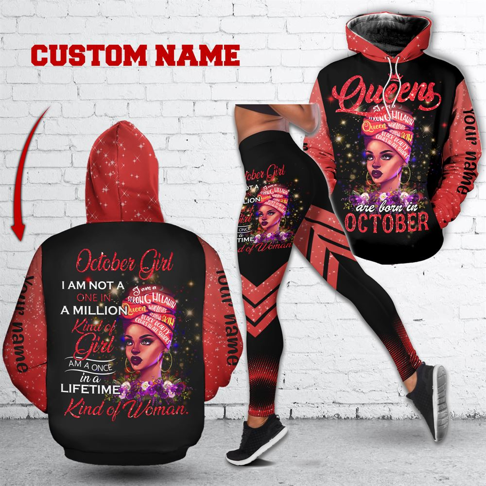 October Birthday Girl Combo October Outfit Personalized Hoodie Legging Set V020
