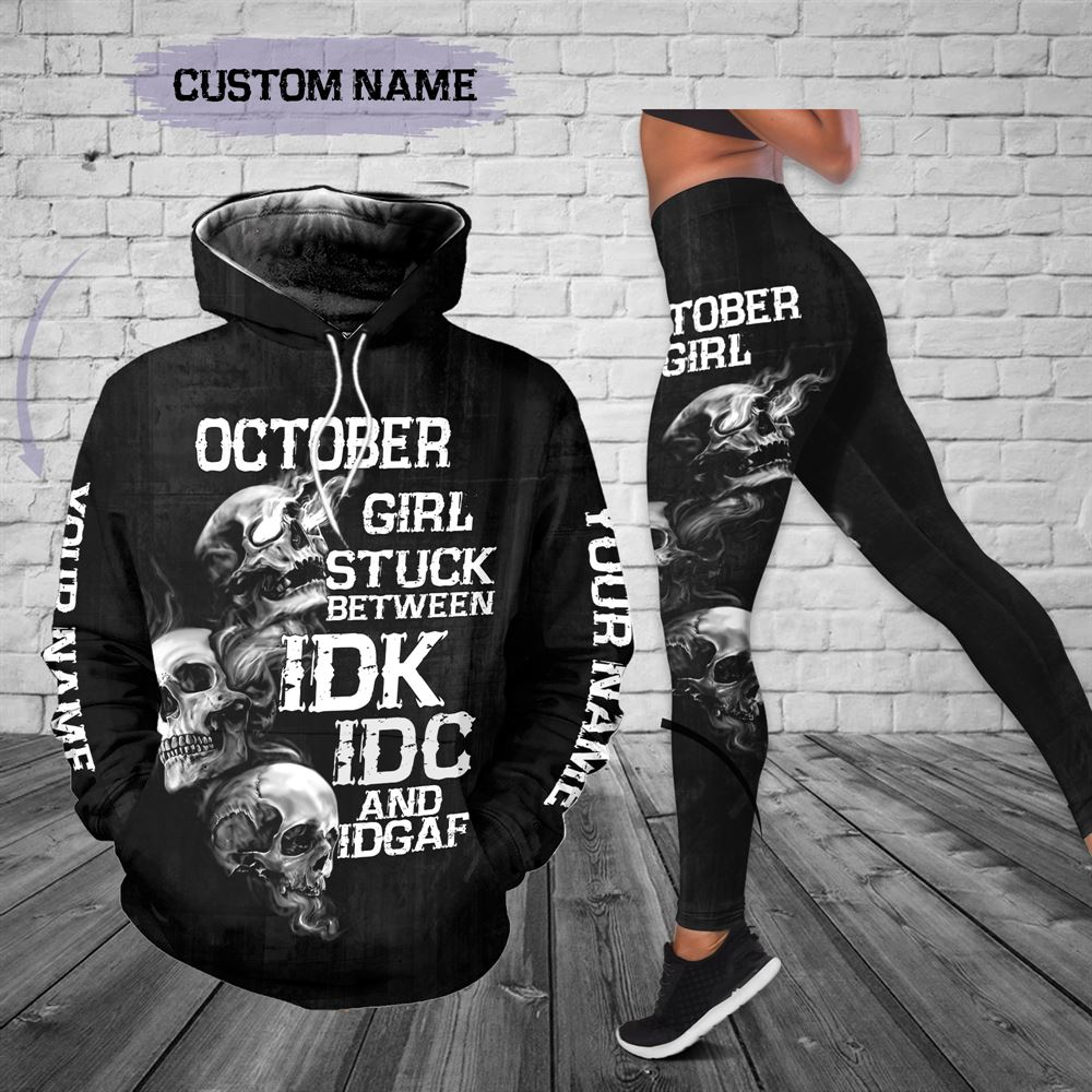 October Birthday Girl Combo October Outfit Personalized Hoodie Legging Set V026
