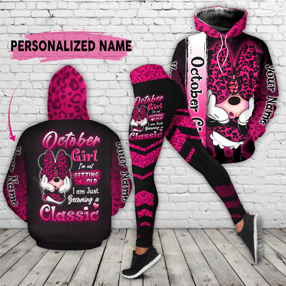 October Birthday Girl Combo October Outfit Personalized Hoodie Legging Set V029