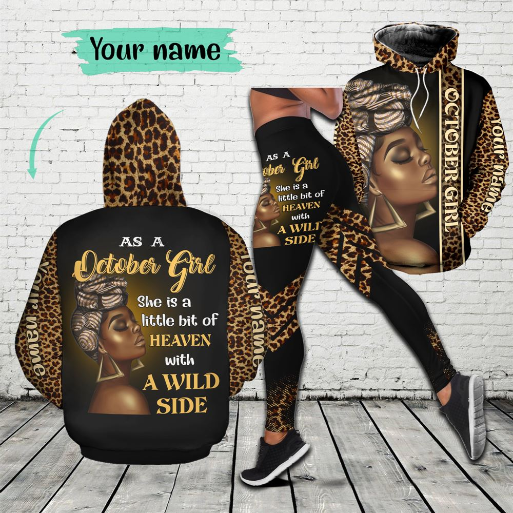 October Birthday Girl Combo October Outfit Personalized Hoodie Legging Set V08