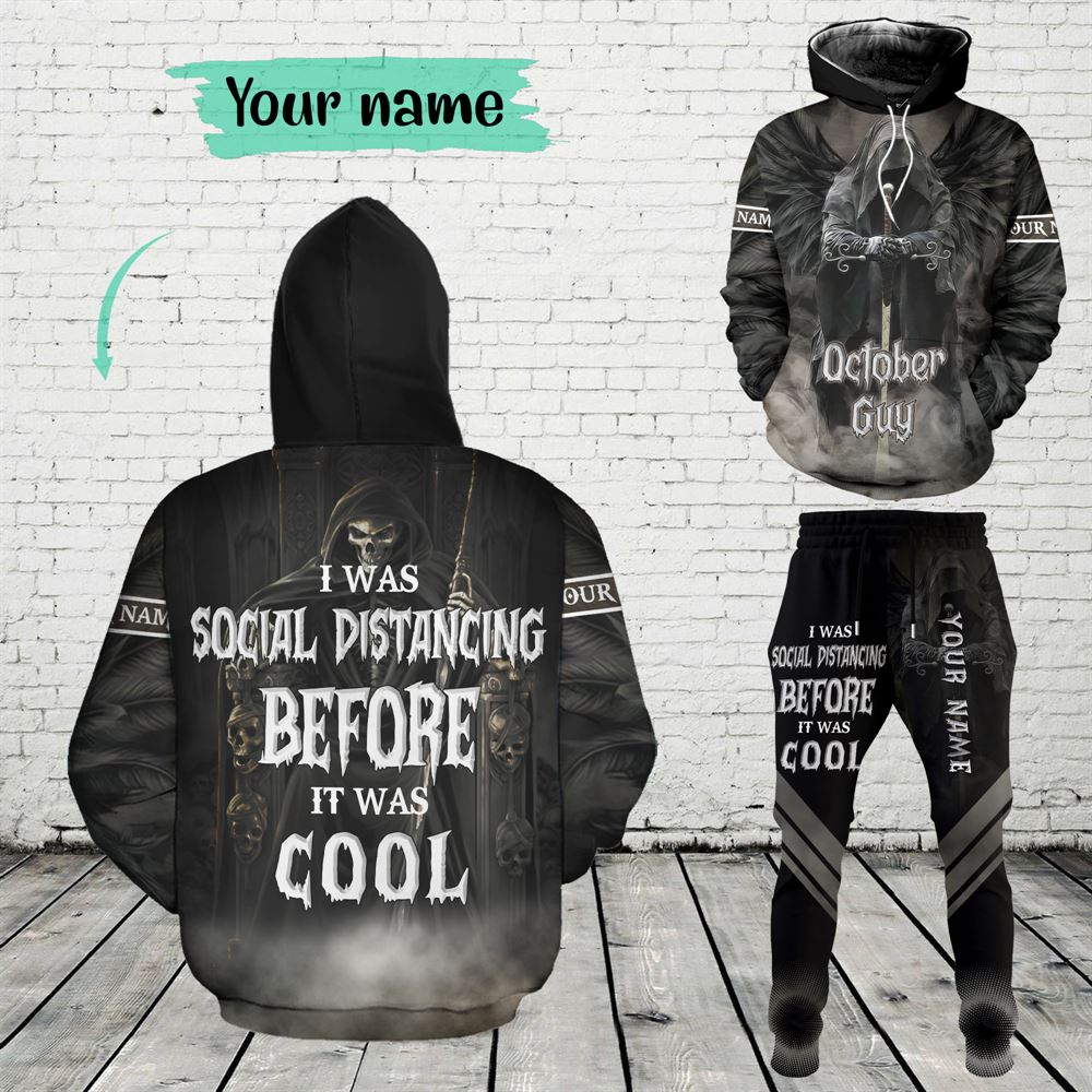 October Birthday Guy Combo October 3d Clothes Personalized Hoodie Joggers Set V01