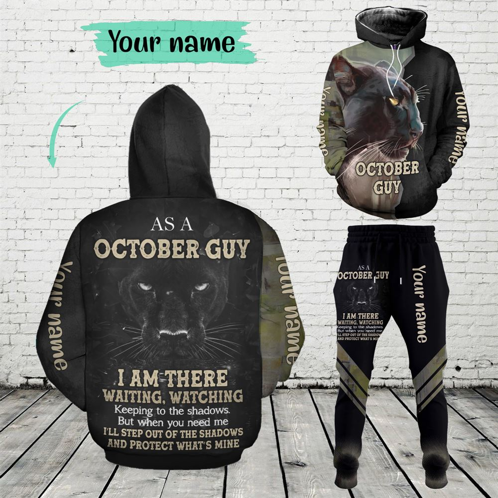 October Birthday Guy Combo October 3d Clothes Personalized Hoodie Joggers Set V012