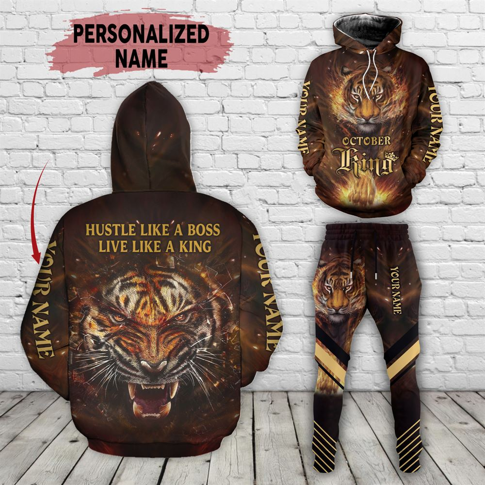 October Birthday Guy Combo October 3d Clothes Personalized Hoodie Joggers Set V014
