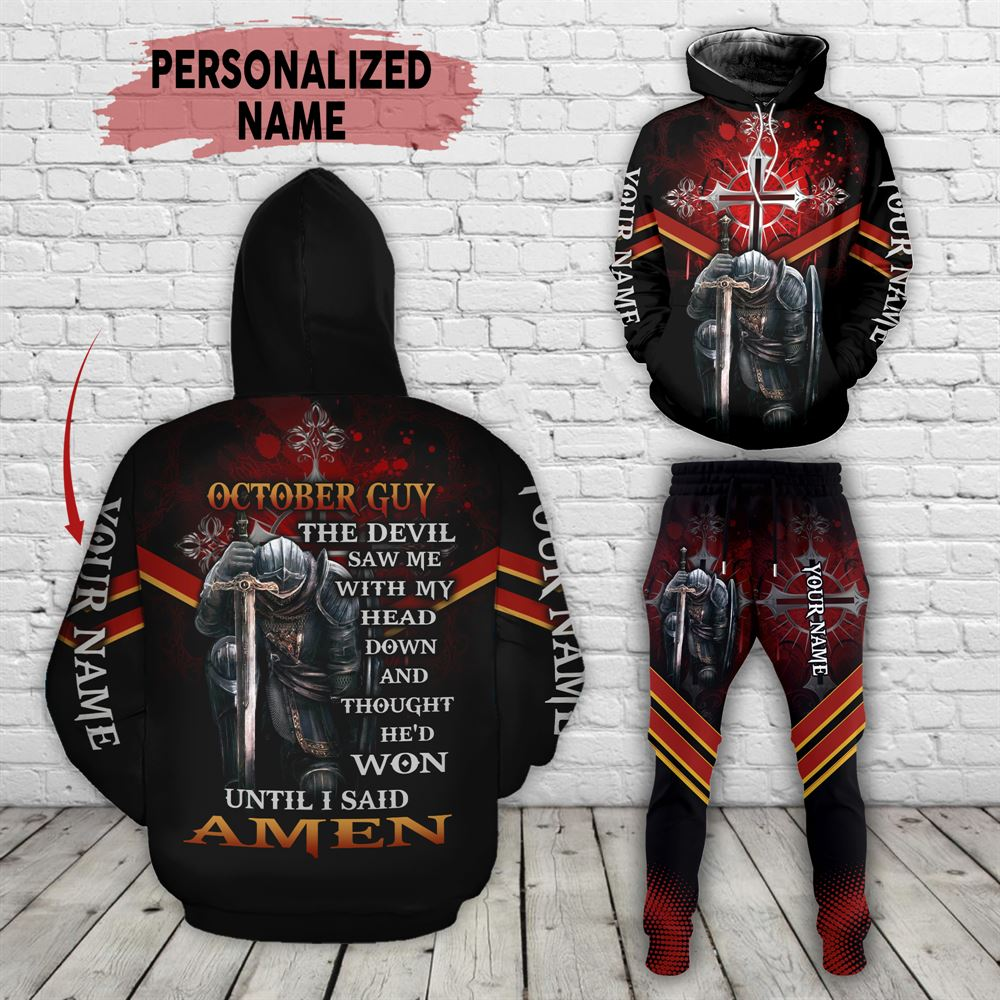 October Birthday Guy Combo October 3d Clothes Personalized Hoodie Joggers Set V018