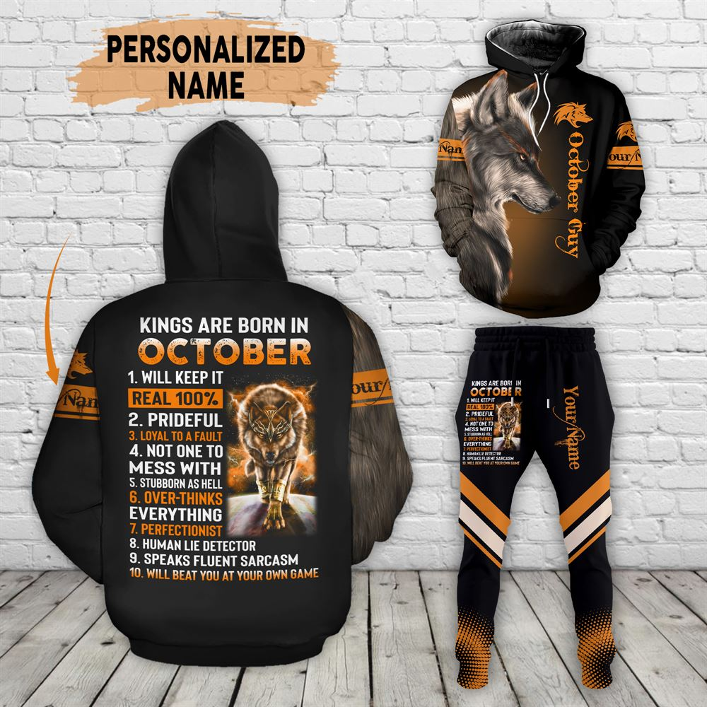 October Birthday Guy Combo October 3d Clothes Personalized Hoodie Joggers Set V021
