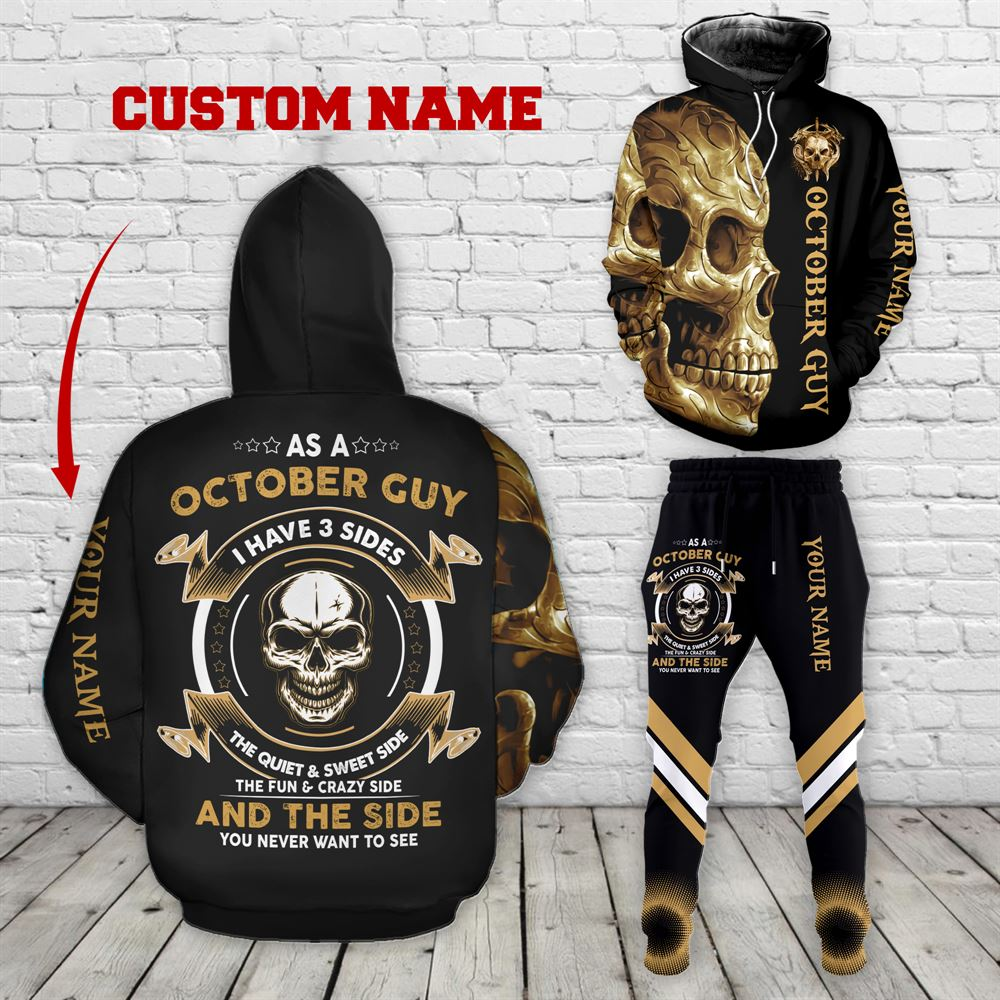 October Birthday Guy Combo October 3d Clothes Personalized Hoodie Joggers Set V026