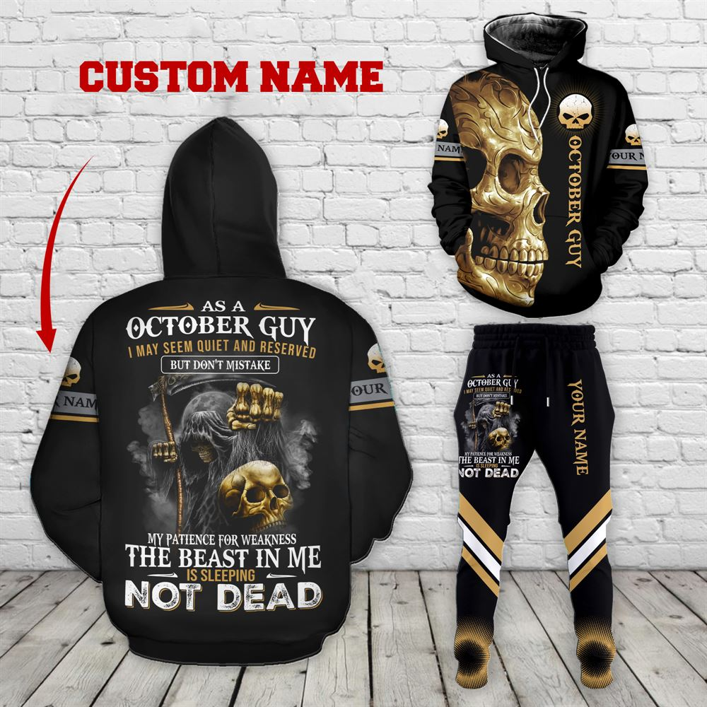October Birthday Guy Combo October 3d Clothes Personalized Hoodie Joggers Set V027