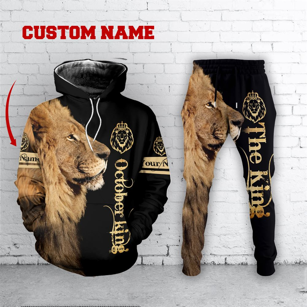 October Birthday Guy Combo October 3d Clothes Personalized Hoodie Joggers Set V032