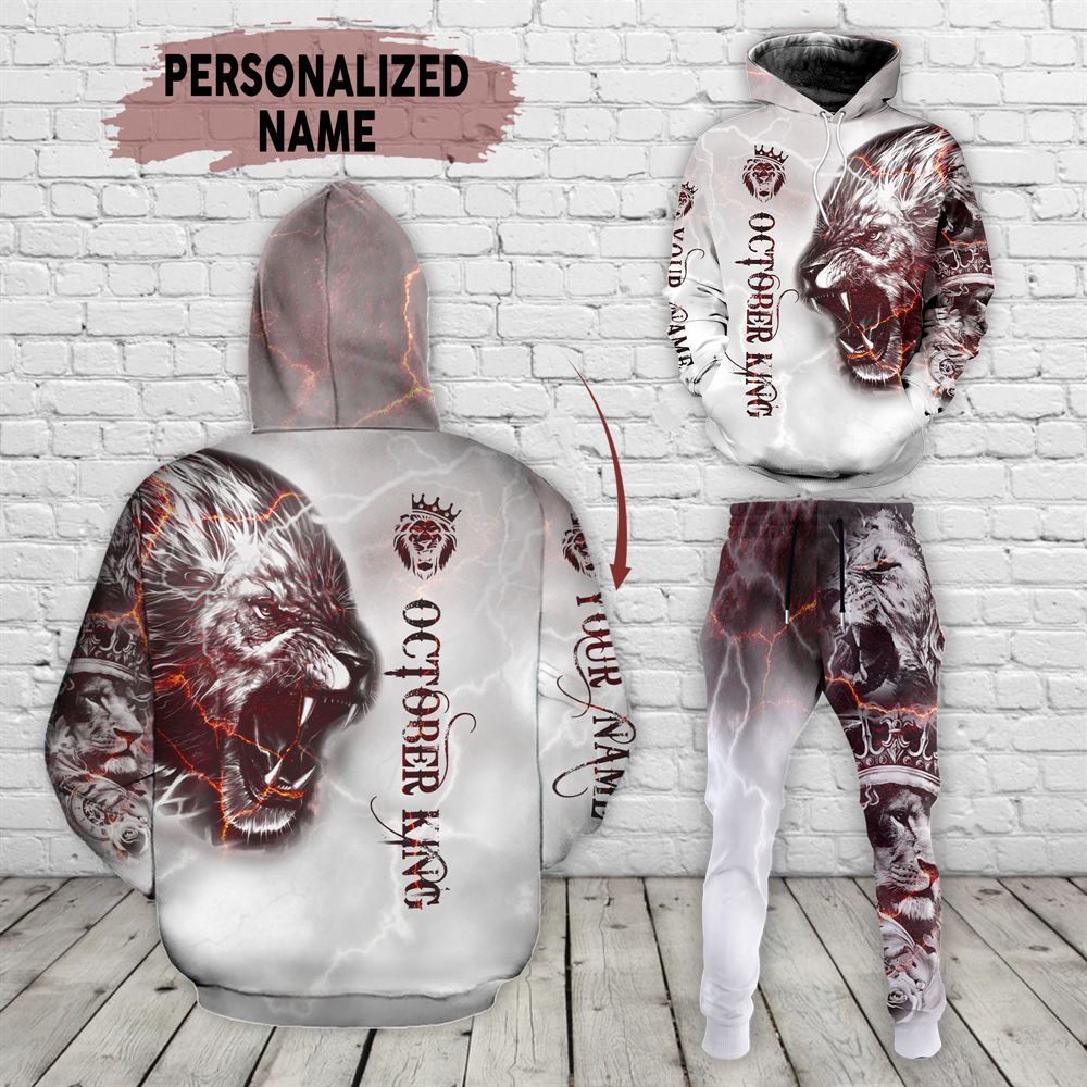 October Birthday Guy Combo October 3d Clothes Personalized Hoodie Joggers Set V033