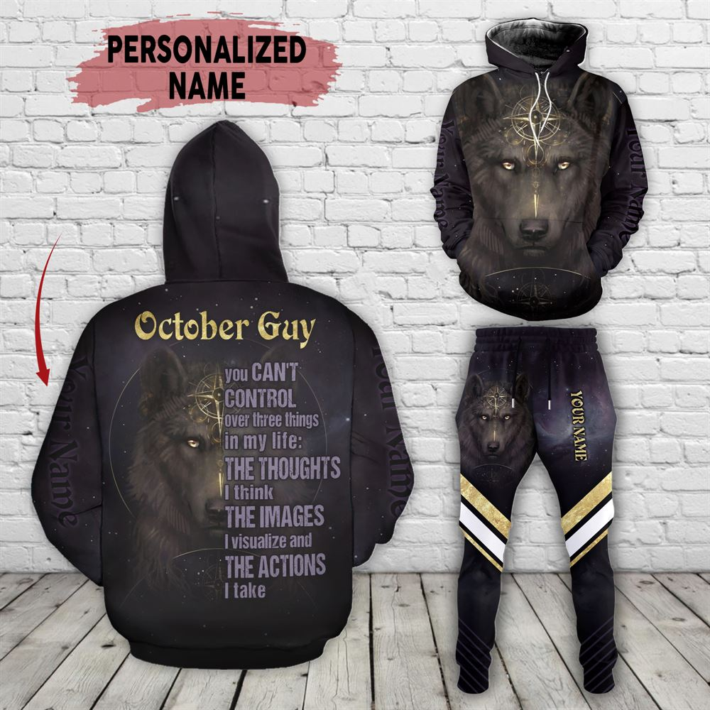 October Birthday Guy Combo October 3d Clothes Personalized Hoodie Joggers Set V04
