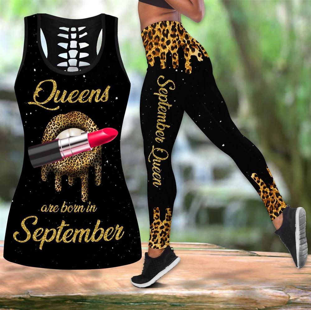September Birthday Girl Combo September Outfit Hollow Tanktop Legging Personalized Set V061