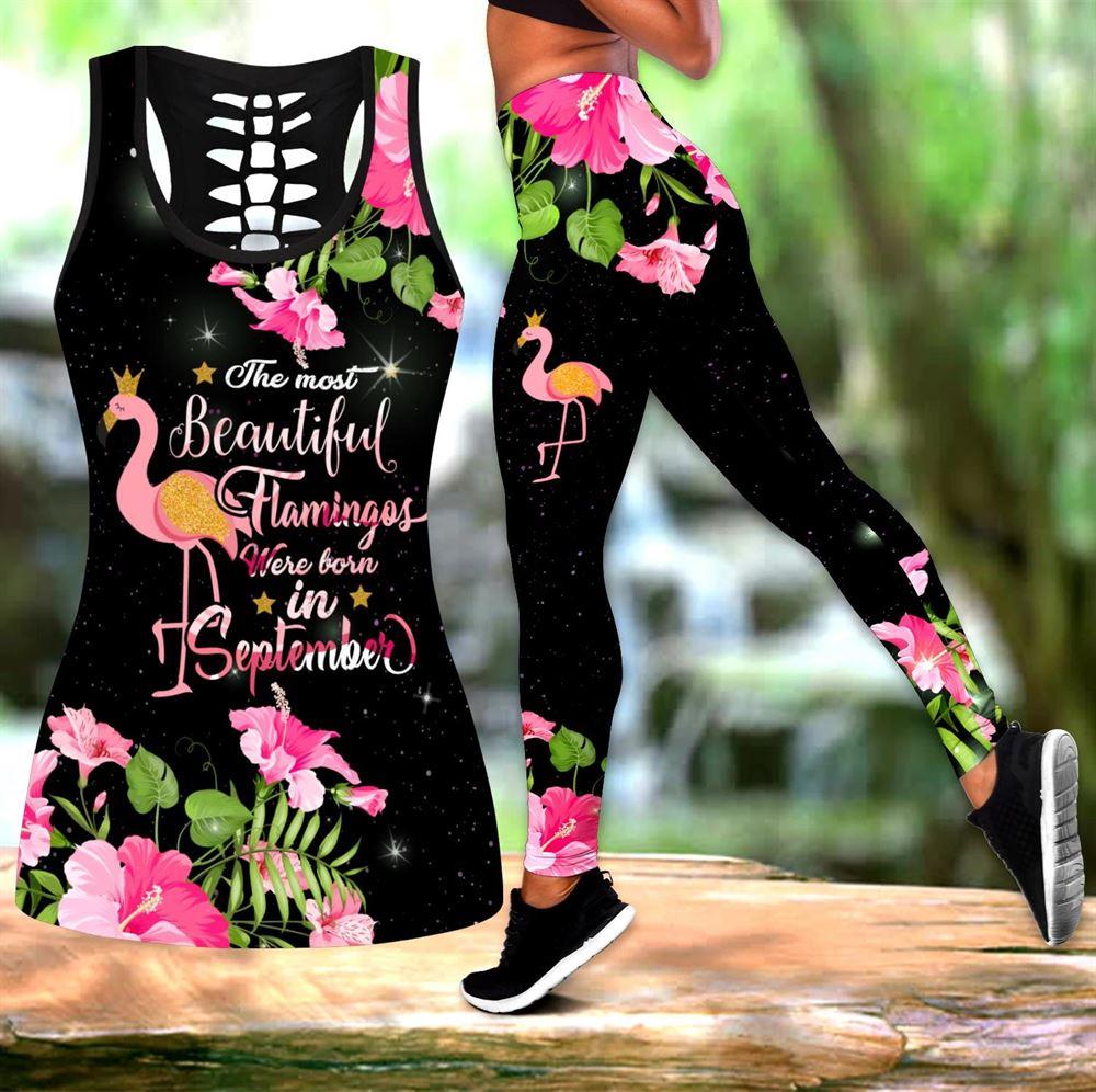 September Birthday Girl Combo September Outfit Hollow Tanktop Legging Personalized Set V064