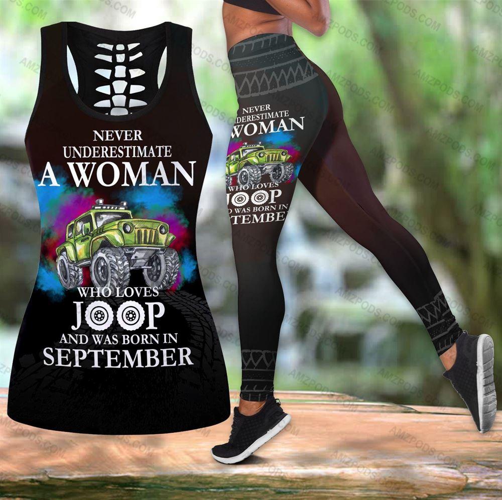 September Birthday Girl Combo September Outfit Hollow Tanktop Legging Personalized Set V069