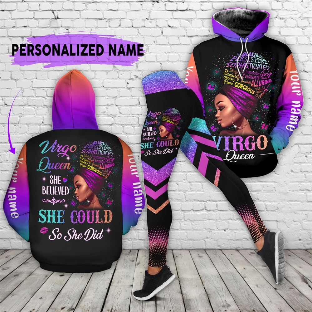 September Birthday Girl Combo September Outfit Personalized Hoodie Legging Set V012