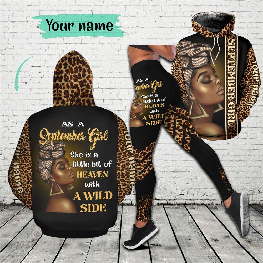 September Birthday Girl Combo September Outfit Personalized Hoodie Legging Set V020
