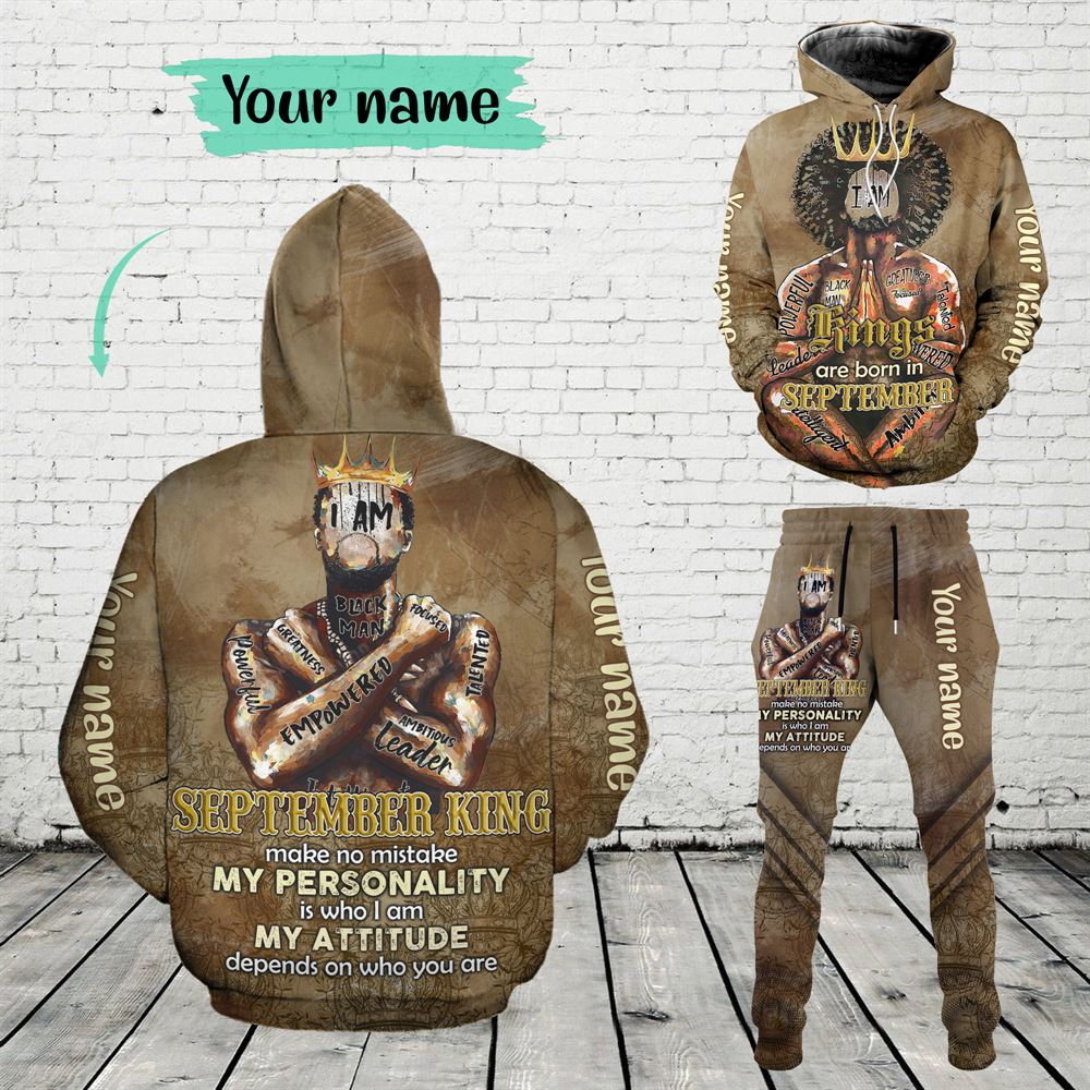September Birthday Guy Combo September 3d Clothes Personalized Hoodie Joggers Set V030