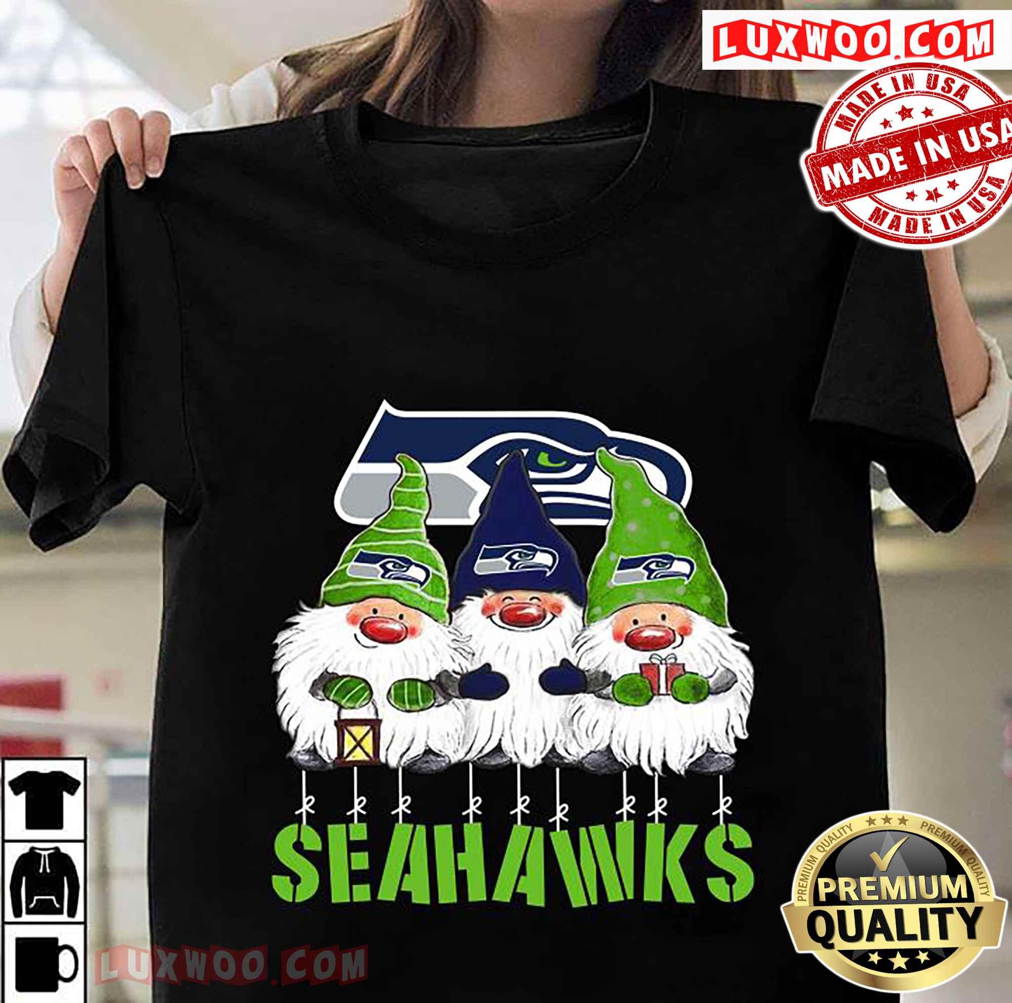 Gnomies Seattle Seahawks Christmas