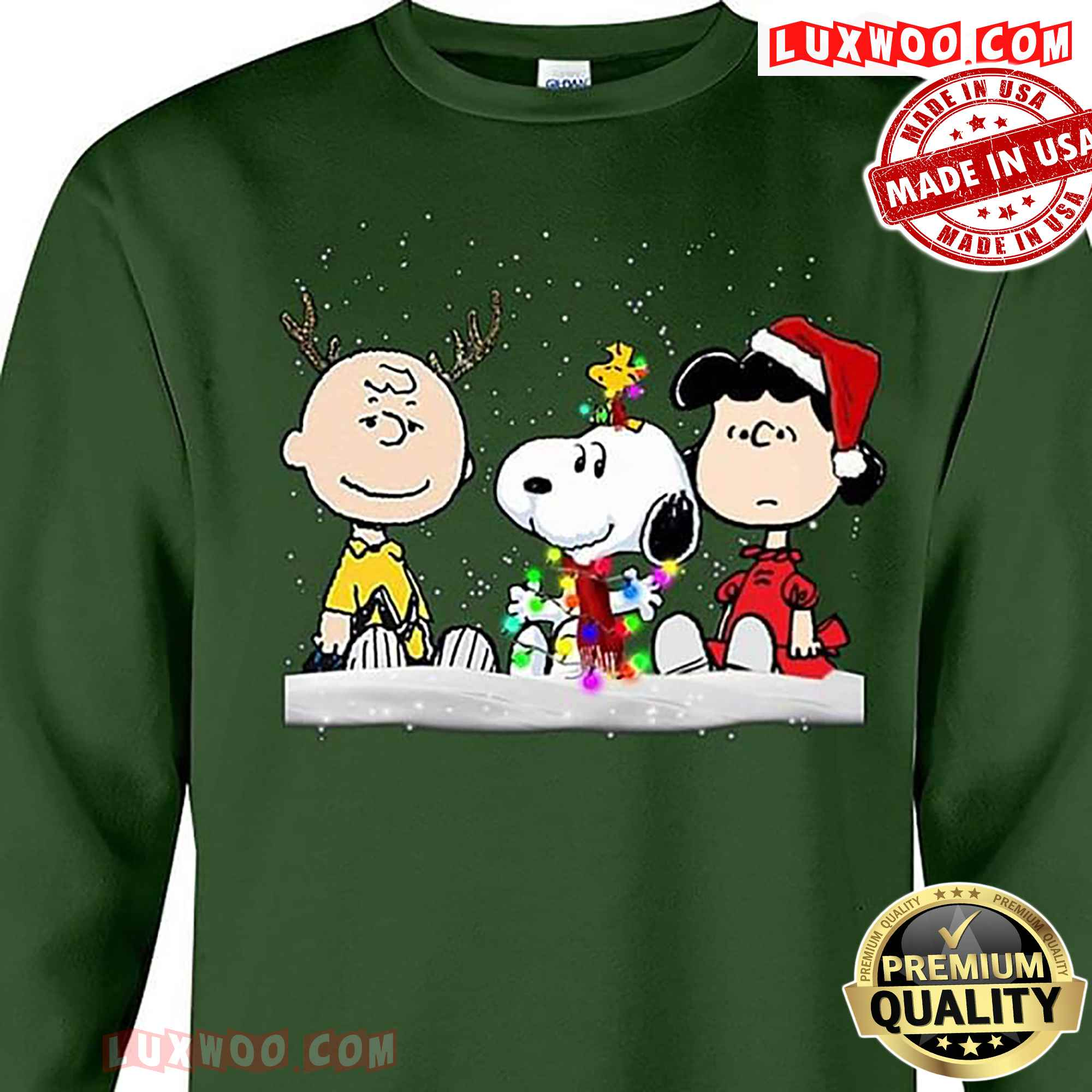 Peanuts Charlie Brown Lucy Van Pelt And Snoopy Christmas