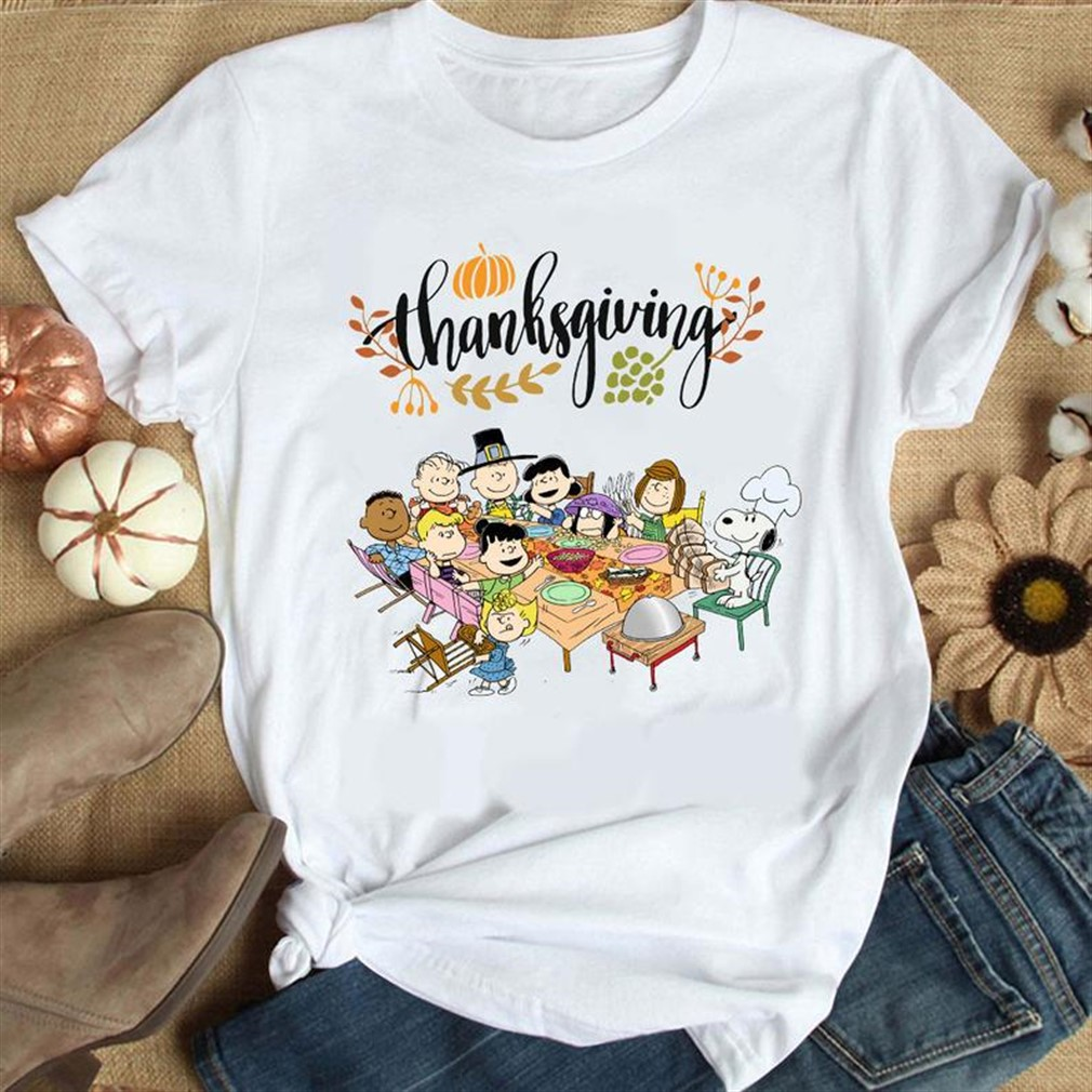 Peanuts Party Thanksgiving Shirt Snoopy Thanksgiving Shirt Thanksgiving Shirt Snoopy Thanksgiving Dinner Charlie Brown Snoopy Friends