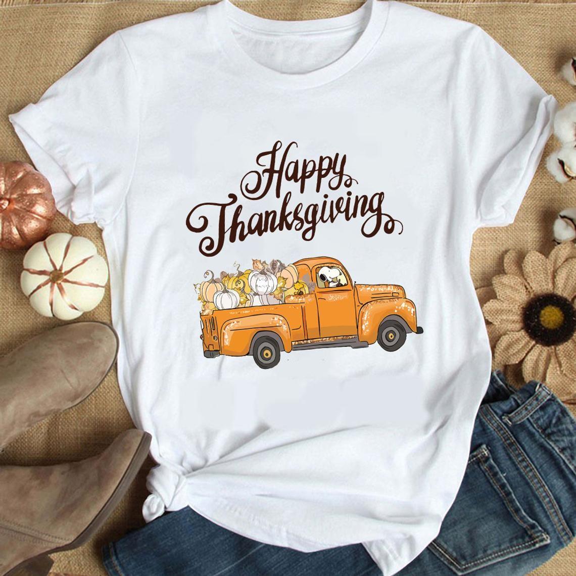 Snoopy Dog Shirt The Peanuts Movie Shirt The Peanuts Thanksgiving Shirt Thanksgiving Shirt Snoopy Thanksgiving Happy Thanksgiving