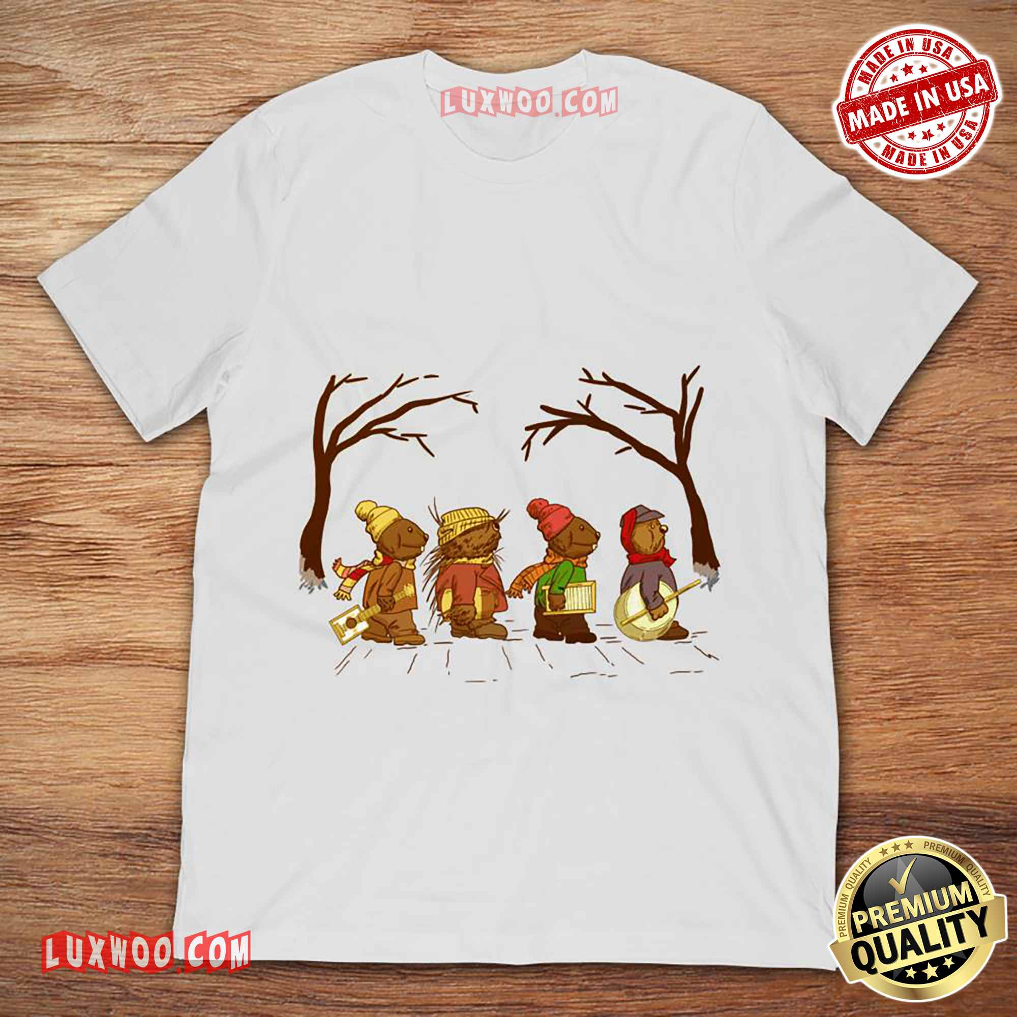 Jug Band Road Emmet Otters Jug-band Christmas Tee Shirt