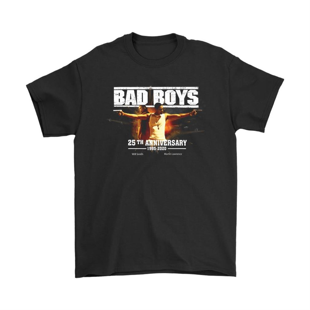 Bad Boys 25th Anniversary 1995 2020 Will Smith Martin Lawrence Shirts Full Size Up To 5xl