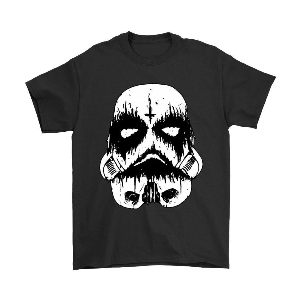 Black Metal Storm Trooper Star Wars Shirts Plus Size Up To 5xl