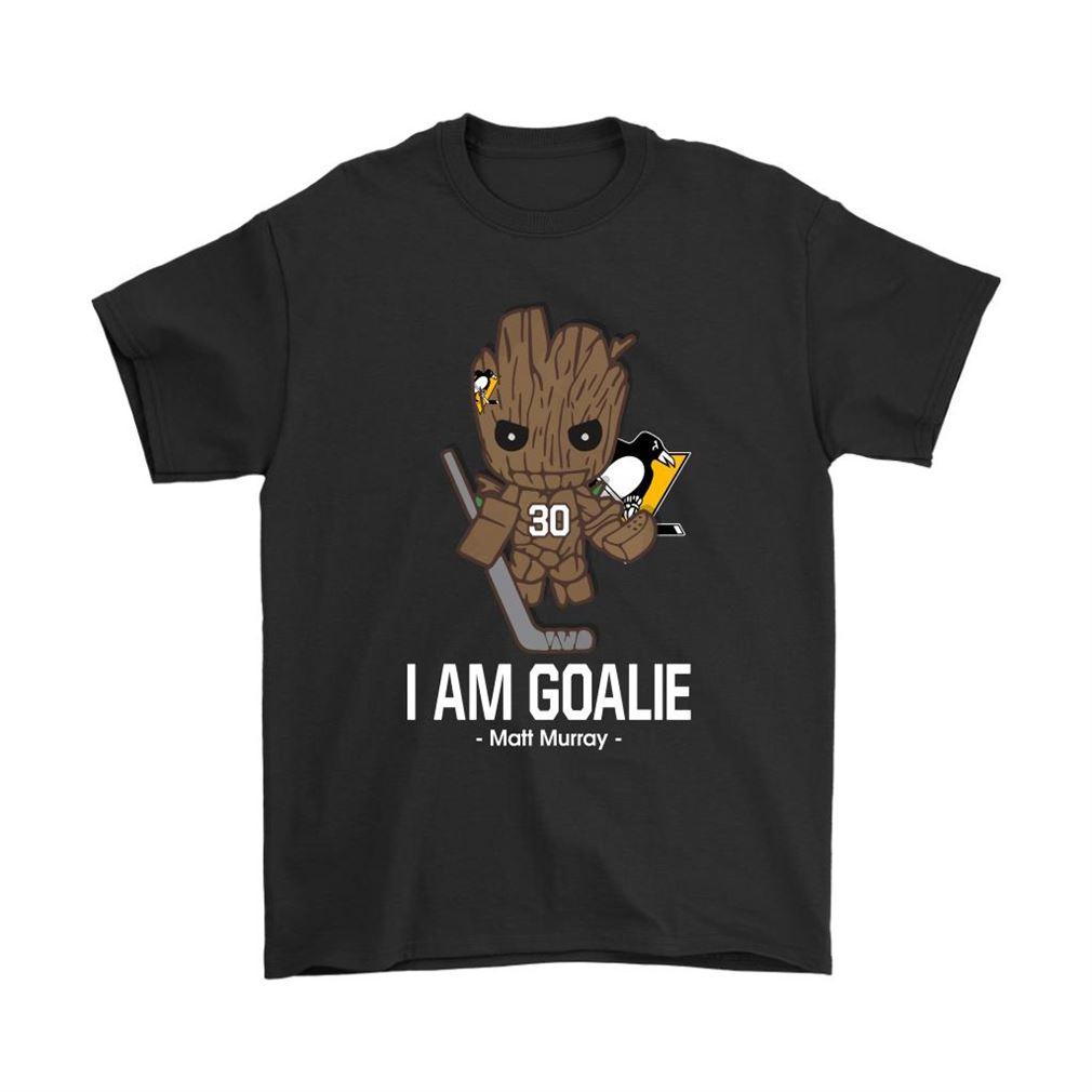 Groot I Am Goalie Matt Murray Pittsburgh Penguins Nhl Shirts Full Size Up To 5xl