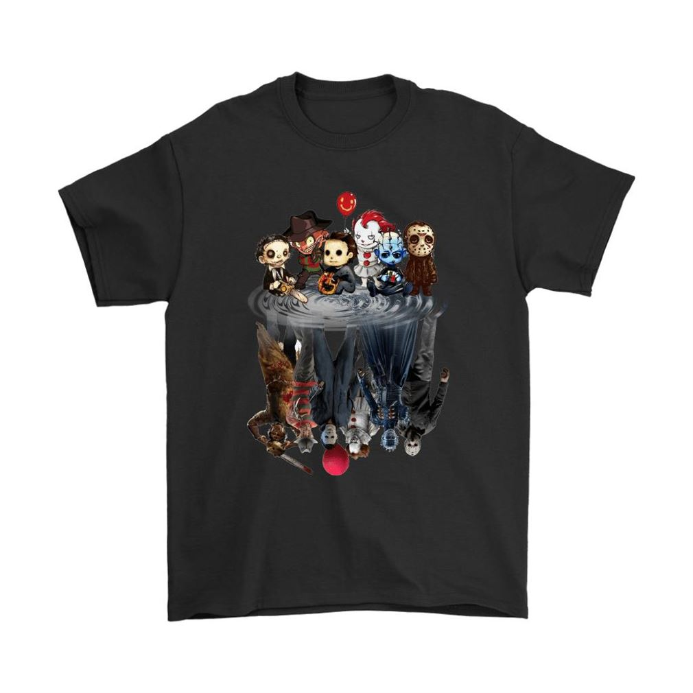 Horror Movies Killers Chibi Reflection Shirts Size Up To 5xl